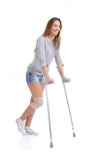 Mit der Verwendung von Krücken ein Stück Mobilität zurückerlangen